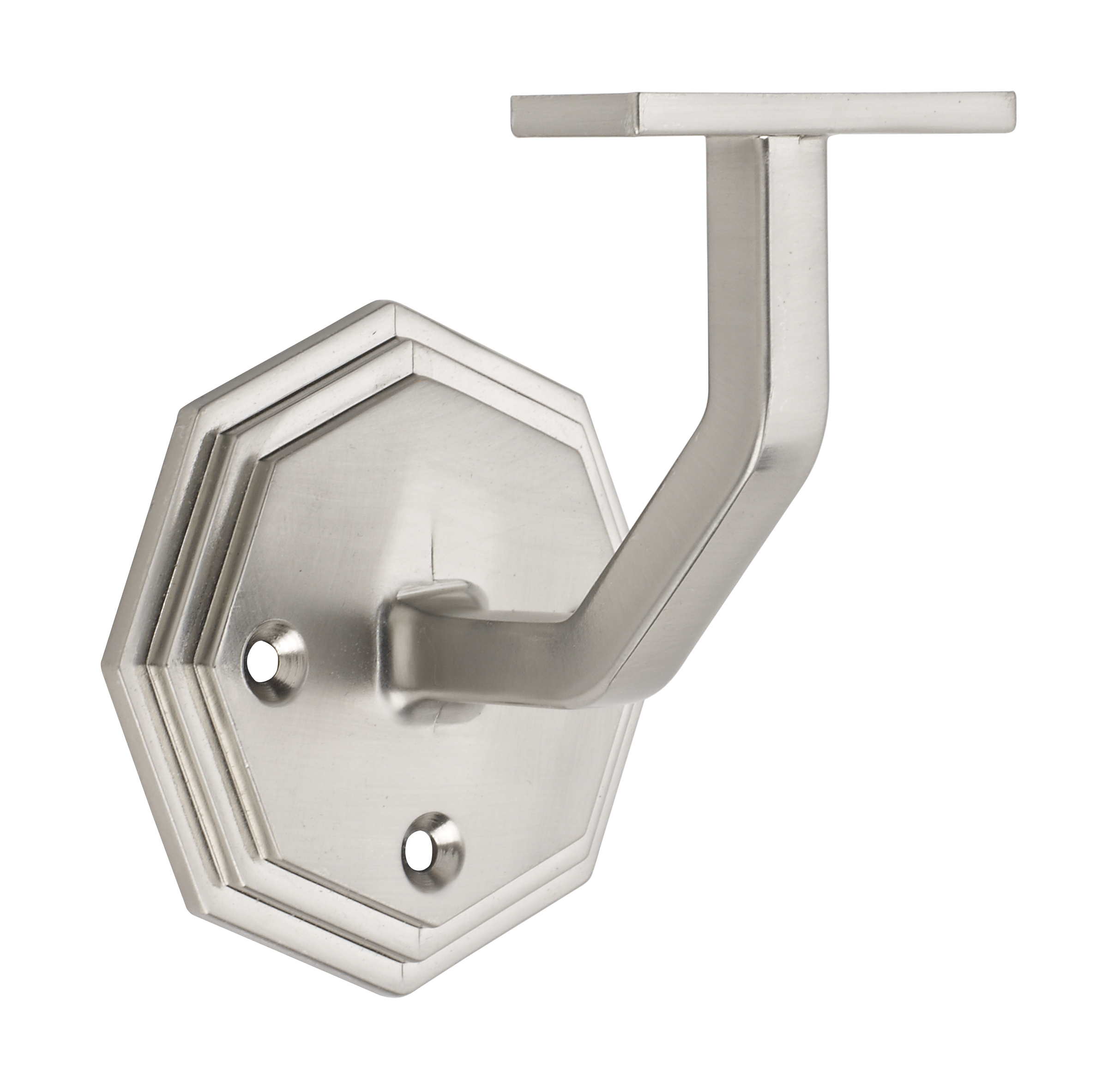 1 Octagonal Brushed Nickel Wall Bracket