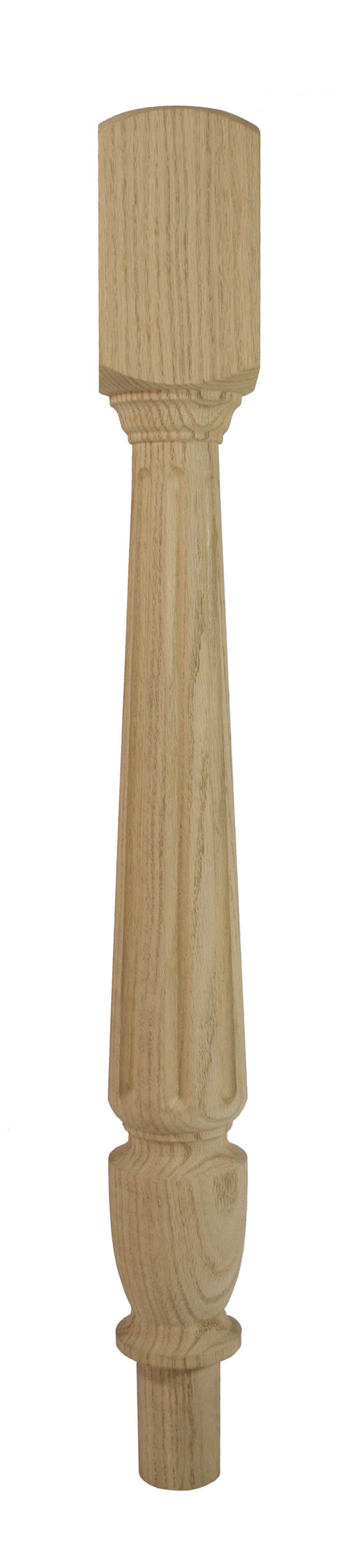 1 Classic Oak Fluted Newel Turn 725 90
