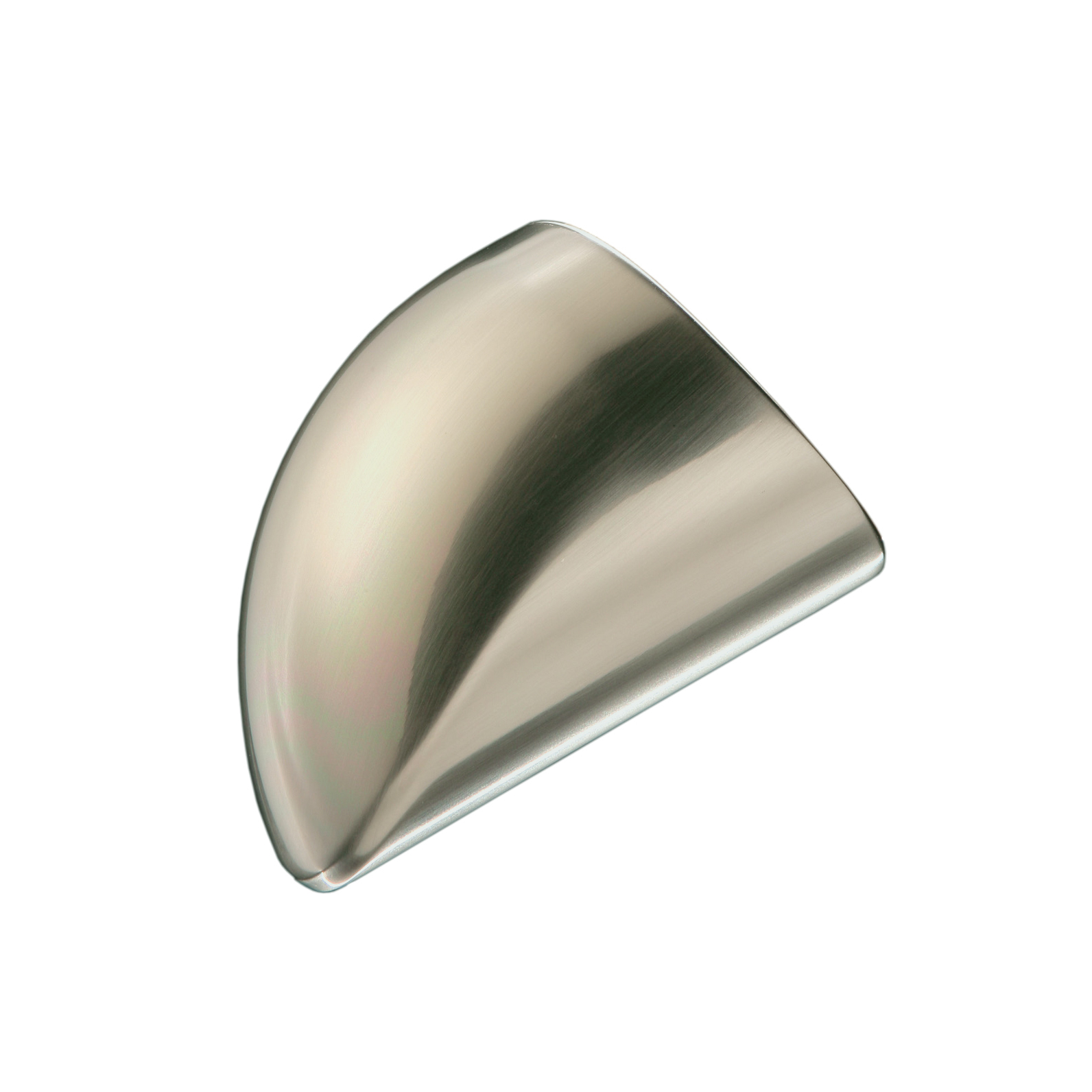 1 Fusion Wall Handrail End Cap Brushed Nickel Effect