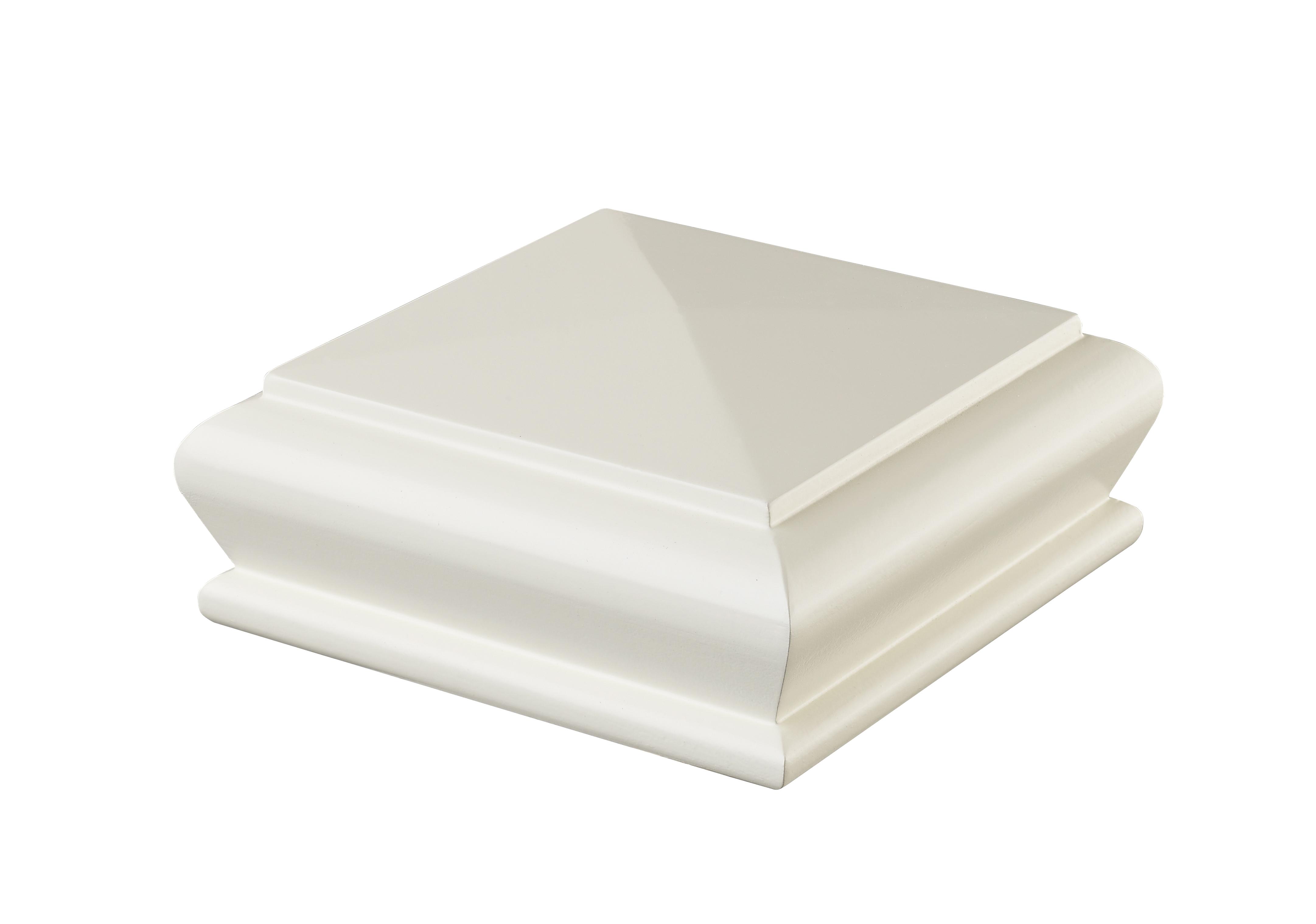 1 White Pyramid Cap 90