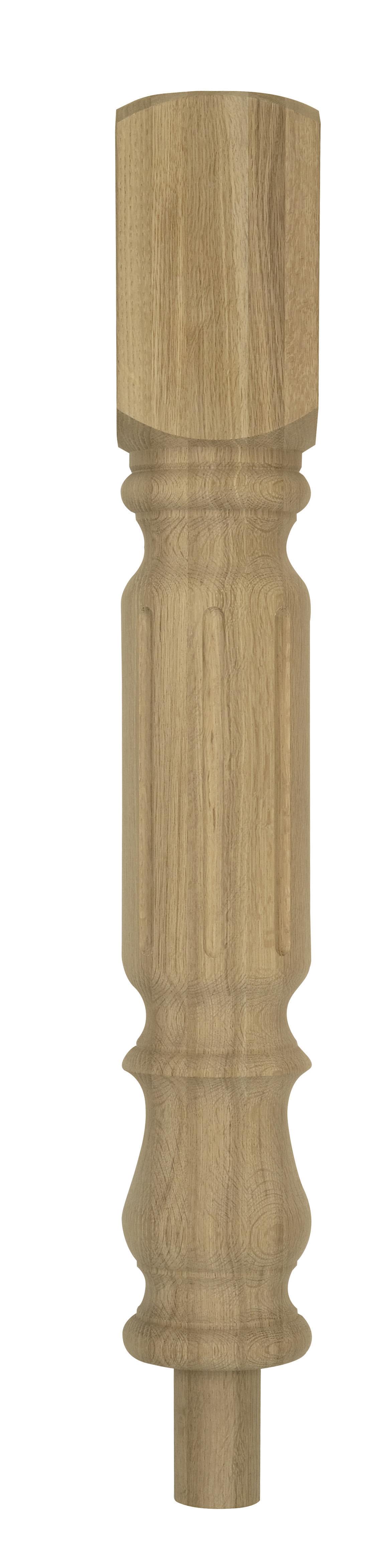 1 Oak Granby Top/Bottom Newel