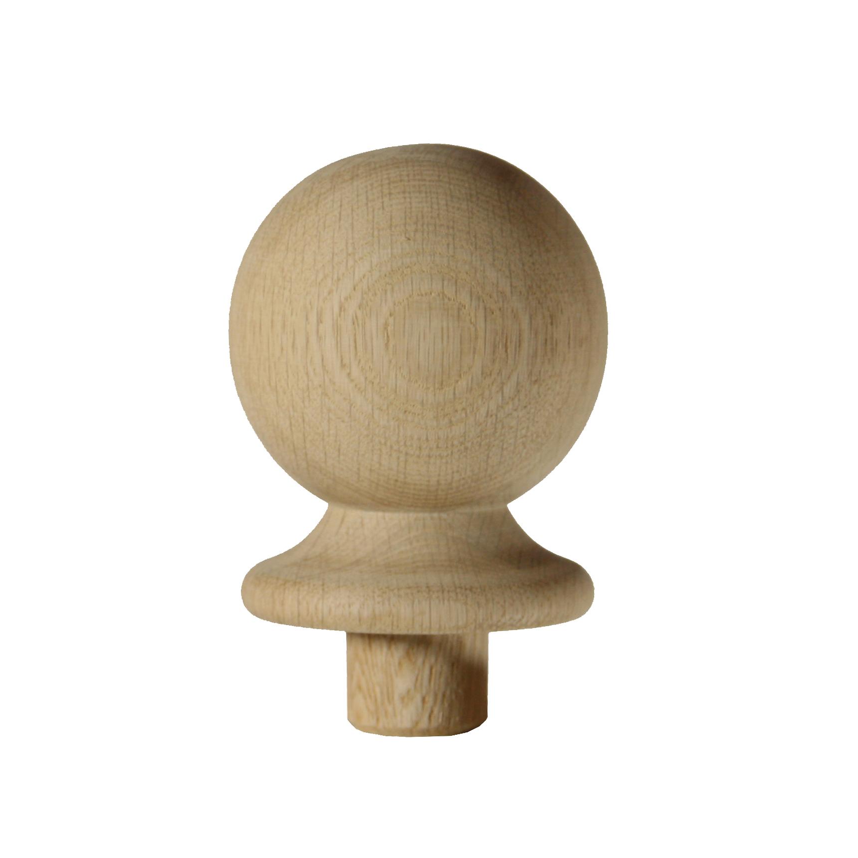 1 Oak Ball Newel Cap 90